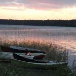 Abendstimmung am See in Lappland in Finnland ©Foto: Tarja Prüss | Tarjas Blog