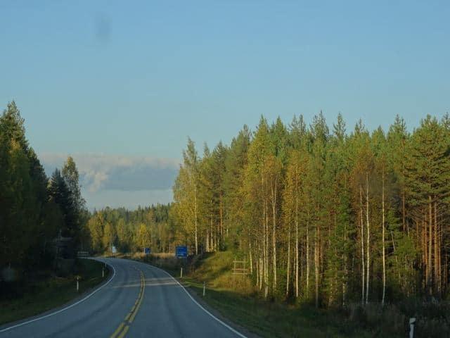 Endlose Straßen und Wald und Wasser in Finnland ©Foto: Tarja Prüss   Tarjas Blog - Alles über Finnland