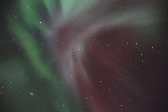 Aurora borealis, corona, am Nachthimmel, Finnland © Tarja Prüss | tarjasblog.de