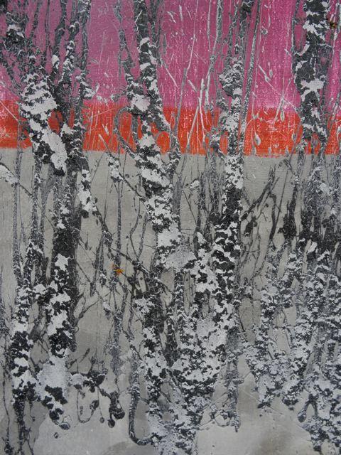 Kunst aus Lappland: Reidar Särestöniemi: Ausschnitt Winter Birken (Foto: Tarja Püss)