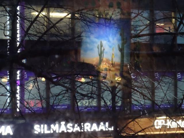 Blick aus einem Lokal in Tampere