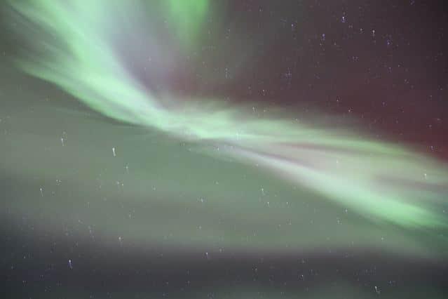 Aurora borealis am Nachthimmel © Tarja Prüss   tarjasblog.de