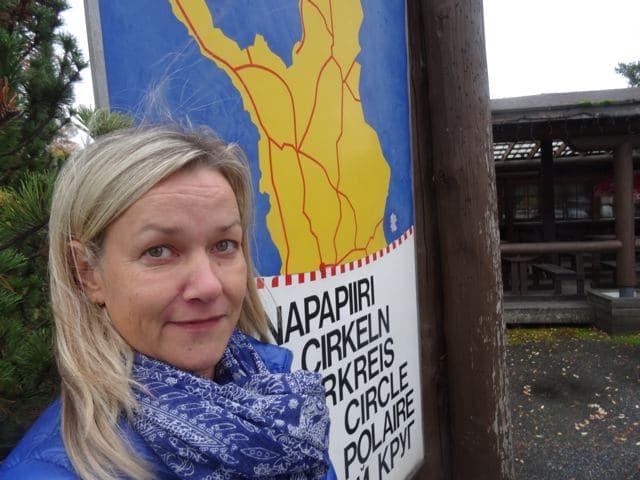 Selfie am Polarkreis ©Foto: Tarja Prüss | Tarjas Blog - Alles über Finnland