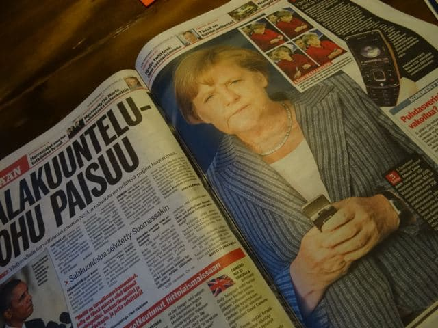 Merkel in der finnischen Zeitung - Abhöraffäre