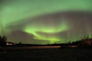 Nacht Polarlichter: Polarlichter in Lehmäjoki Österbotten Finnland ©Foto: Tarja Prüss | Tarjas Blog - Alles über Finnland