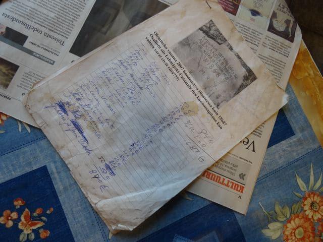 Gemeinsinn in Lehmäjoki: Unterschriftenliste
