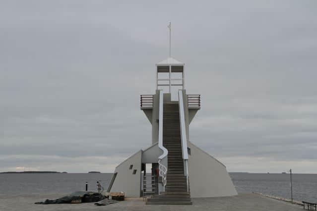 Oulu: Majakka (Aussichtsturm) am Nallikari (Strand)
