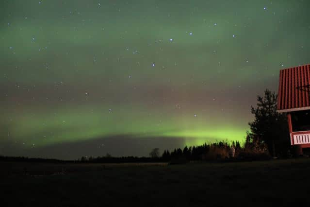 Polarlichter in Lehmäjoki Finnland IMG_6645 ©Foto: Tarjas Blog -Alles über Finnland