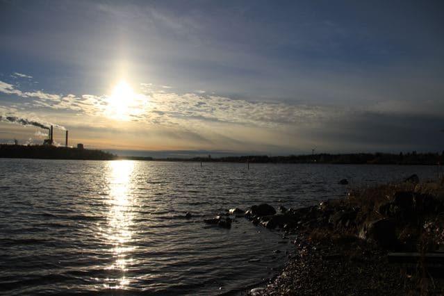 Oulu Finnland: BLick aufs Meer bei untergehender Sonne (copyright: Tarja Prüss)