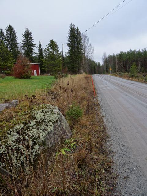 Straße, die Lehmäjoki und Untermala verbindet.