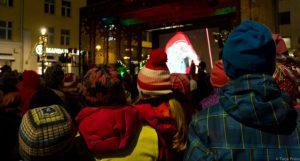 Der Weihnachtsmann auf Besuch in Oulu Finnland (copyright: Tarja Prüss)