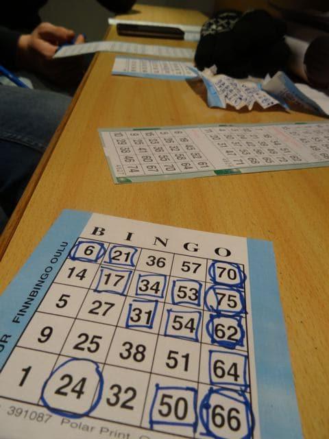 Bingo spielen: Bingokarte ©Foto: Tarja Prüss | Tarjas Blog - Alles über Finnland