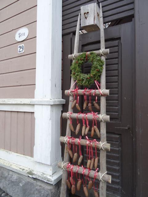 Weihnachtsdeko an der Straße in Rauma, Finnland ©Foto: Tarja Prüss | Tarjas Blog - Alles über Finnland