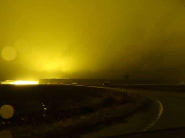 Unterwegs in Finnland: Lichterscheinungen. copyright: tarja prüss