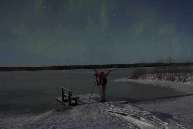 Polarlichter nahe Oulu, Finnland (Copyright: Tarja Prüss)