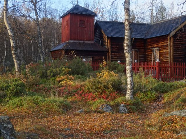 Die Kirche von Pielpajärvi. Inari Lappland ©Foto: Tarja Prüss   Tarjas Blog