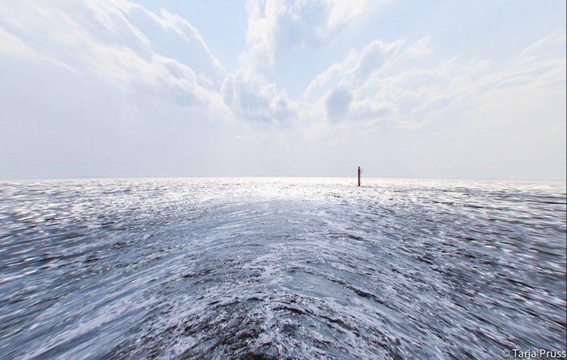 Strandgut - Die Nordsee leicht verzerrt - vom Schiff aus ©Tarjas Blog - Reiseblog