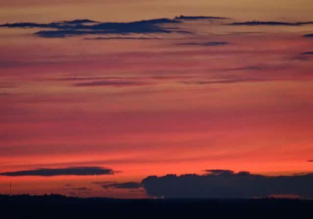 Sonnenuntergang Helsinki (copyright: Tarja Prüss)