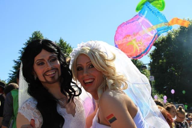 Helsinki Pride 2014: Brautpaar ©Foto: Tarja Prüss | tarjasblog.de