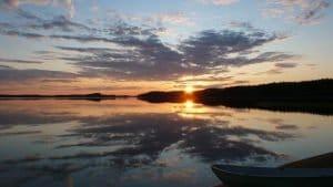 sunset pielinen finnland
