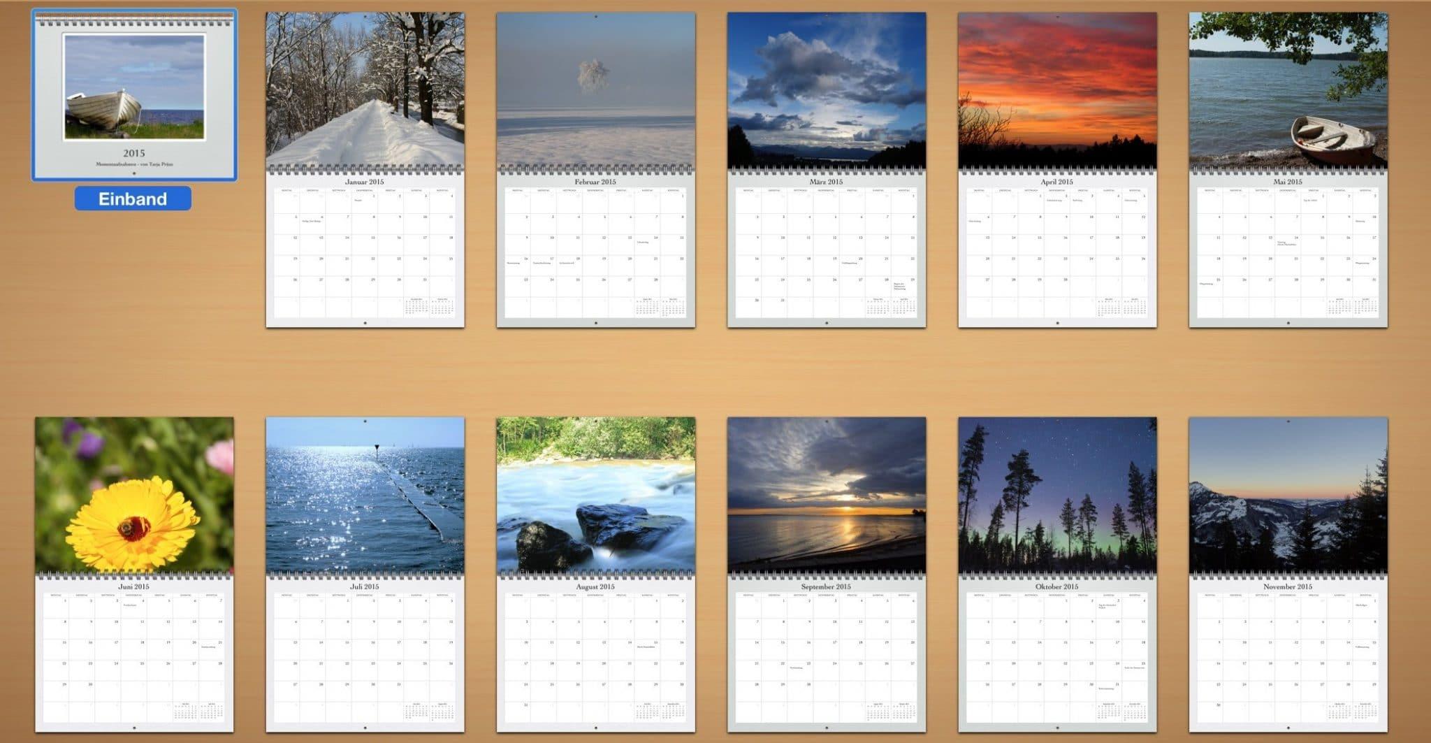 Kalender 2015 / Tarja Prüss