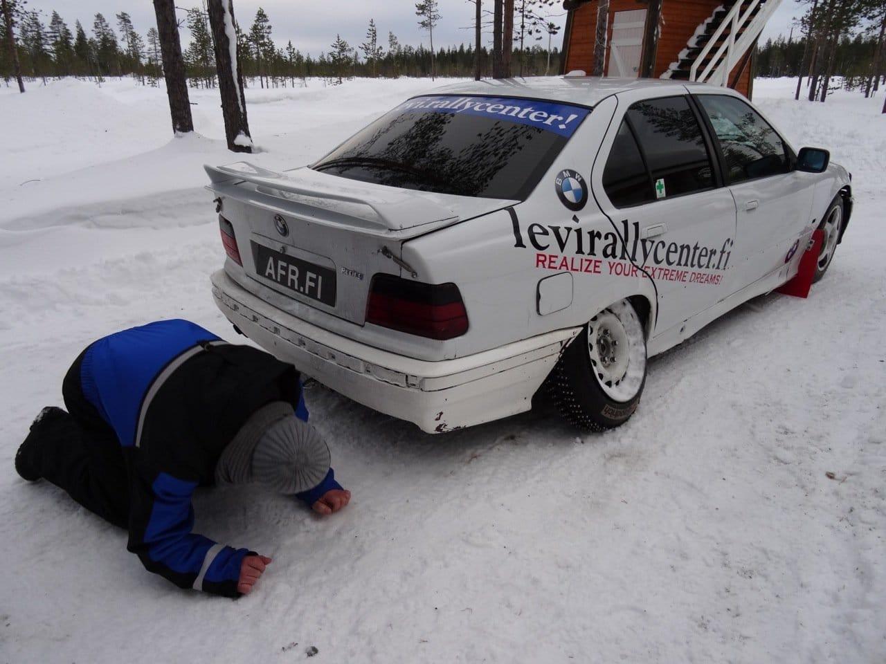 Rallye in Lappland: Das Auto ©Foto: Tarjas Blog
