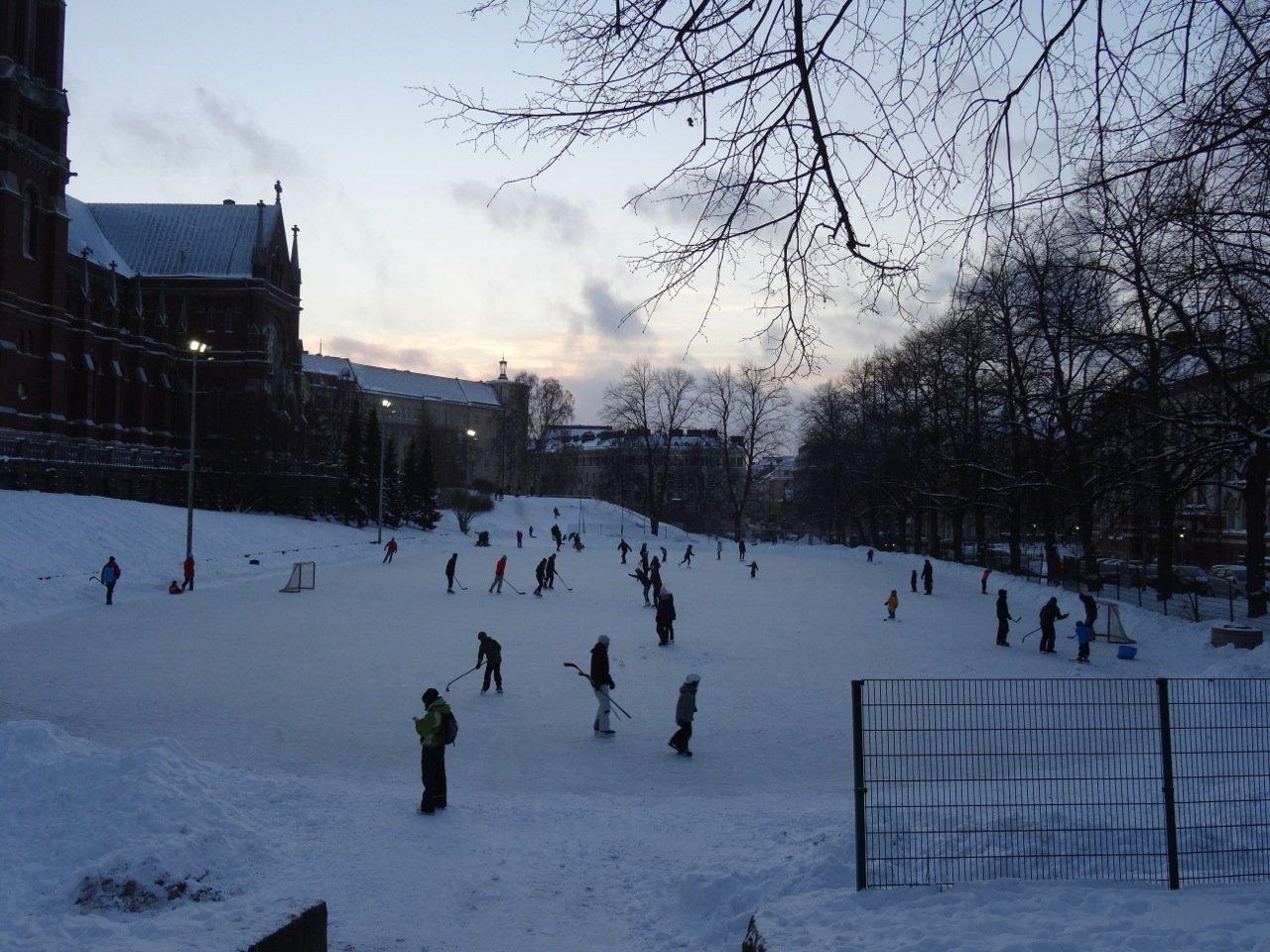 Eishockey spielen in Helsinki Finnland ©Tarja Prüss | Reiseblog Finnland