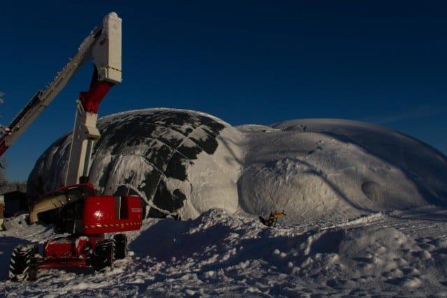 Experiment: größte Eisbrücke der Welt - Ort: Juukka ©Tarja Prüss | Tarjas Blog - Reiseblog Finnland
