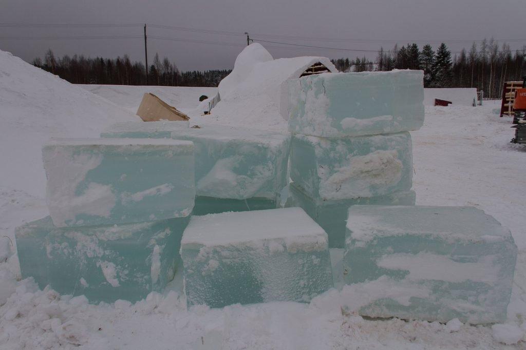 Große Eisblöcke ©Tarja Prüss   Tarjas Blog - Reiseblog Finnland