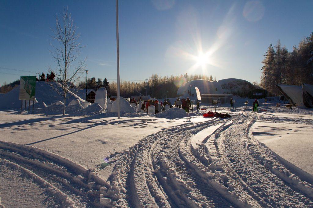 Schnee Mit Sonne In Juuka ©Tarja Prüss   Tarjas Blog - Reiseblog Finnland