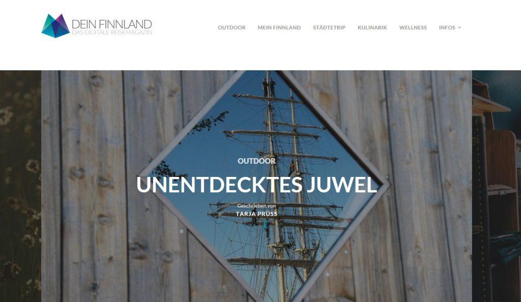 Artikel über Aland - Titelbild