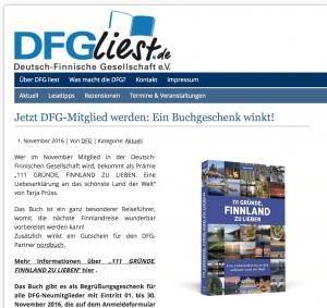 Finnland DFG Buchgeschenk (Screenshot dfg.liest.de)