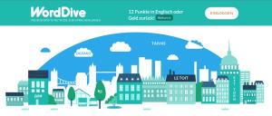 Verlosung WordDive - Startseite des Lernprogramms ©WordDive