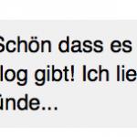 """Kommentar auf Facebook: """"Schön, dass es auch Tarjasblog gibt! Ich liebe das Buch 111 Gründe..."""""""