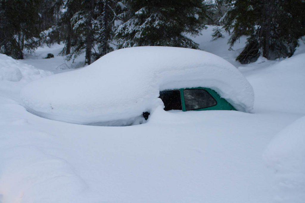 Auto eingeschneit - Finnland Lainio ©Foto: Tarja Prüss | Tarjas Blog - Reiseblog Finnland