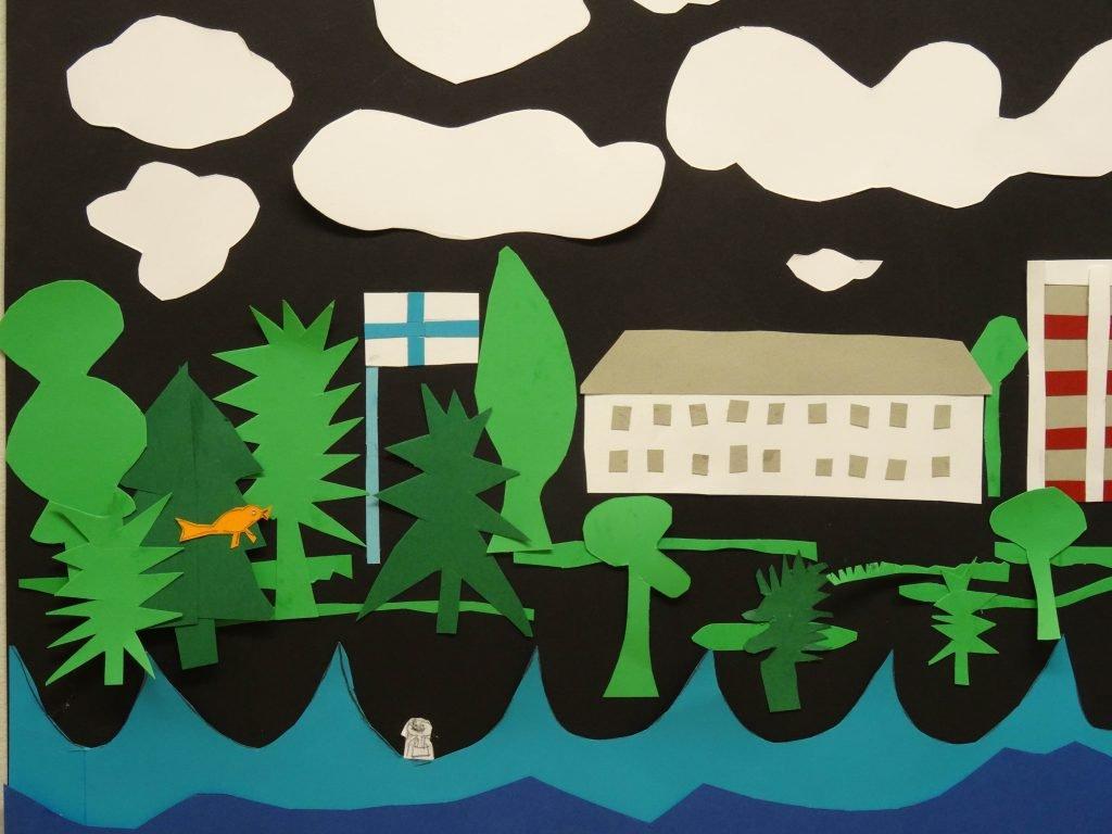 Papierarbeit - im Kunstmuseum Korundi, Rovaniemi Finnland