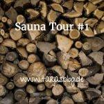 Sauna-Tour - gestapelte Holzscheite