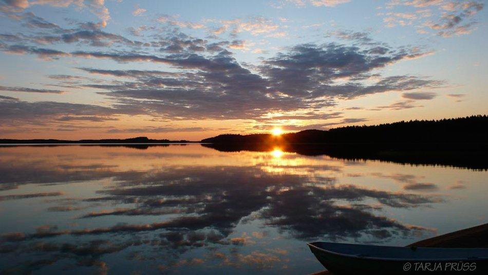 Urlaub Finnland 2017: Mitternachtssonne am Puruvesi ©Foto: Tarja Prüss   tarjasblog.de