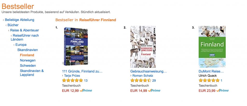 Amazon Bestseller Finnland