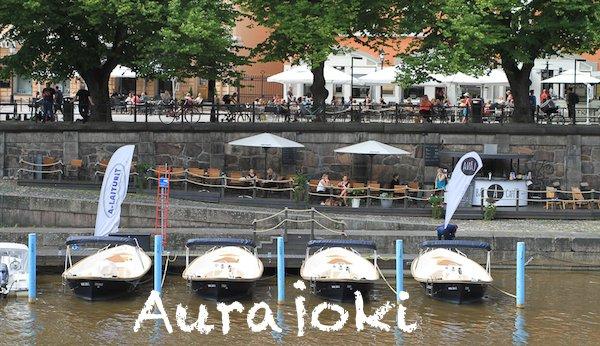 Turku Sehenswürdigkeiten: Am Aurajoki, Turku, Finnland. Sommer 2016 © Foto: Tarja Prüss