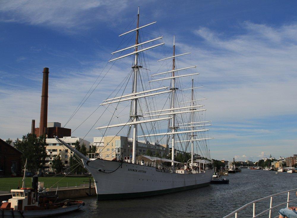 Segelschiff Suomen Joutsen, Turku, Finnland © Foto: Tarja Prüss