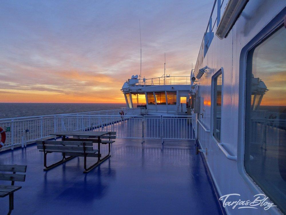 Sonnenaufgang auf der Ostseefähre Finnlines ©Foto: Tarja Prüss | Tarjas Blog - Reiseblog Finnland