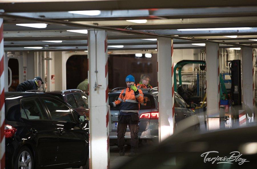 Finnlines Hafenterminal Travemünde - Beladen des Schiffes © Tarja Prüss