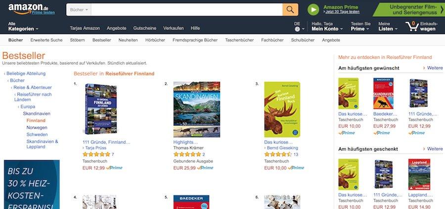 Amazon-Bestseller-Finnland-Reiseführer: 111 Gründe Finnland zu lieben - Buchrezension - Bestseller Amazon
