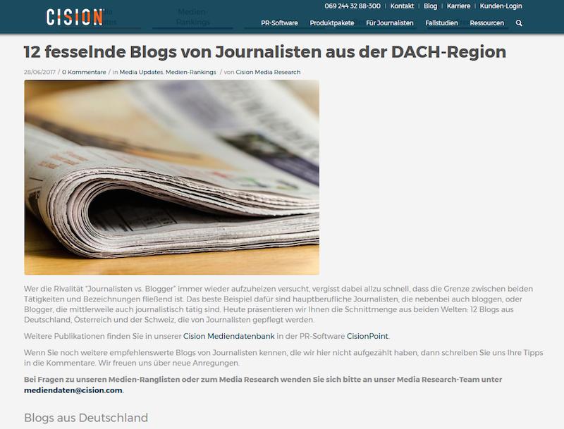 Beste Blogs 2017: Ranking: Tocision_ranking_top_blogs von Journalisten
