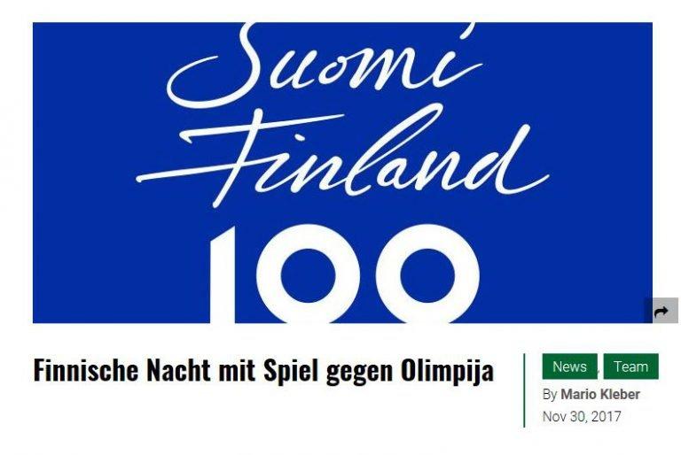 EHB Suomi 100 Eishockey match