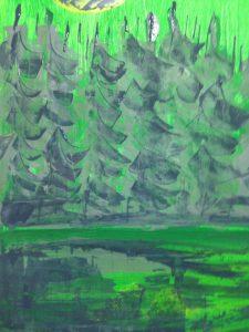 Grüner Wald - Gemalt mit Acrylfarbe 2017 ©Tarja Prüss | tarjasblog.de