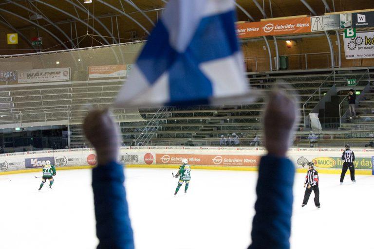 Eishockey in Finnland - Fahne ©Foto: Tarja Prüss | tarjasblog.de 2017