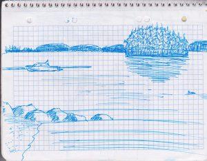 Skizze: See ©Tarja Prüss | tarjasblog.de