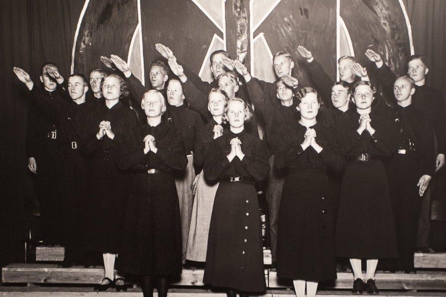 Das versteckte Finnland: Faschistische Jugend Organisation 1930-er Jahre. Quelle: Kansallismuseum Helsinki.